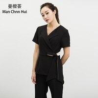 Medical spa uniforms beauty salon overalls female beautician massage technician health club temperament professional suit