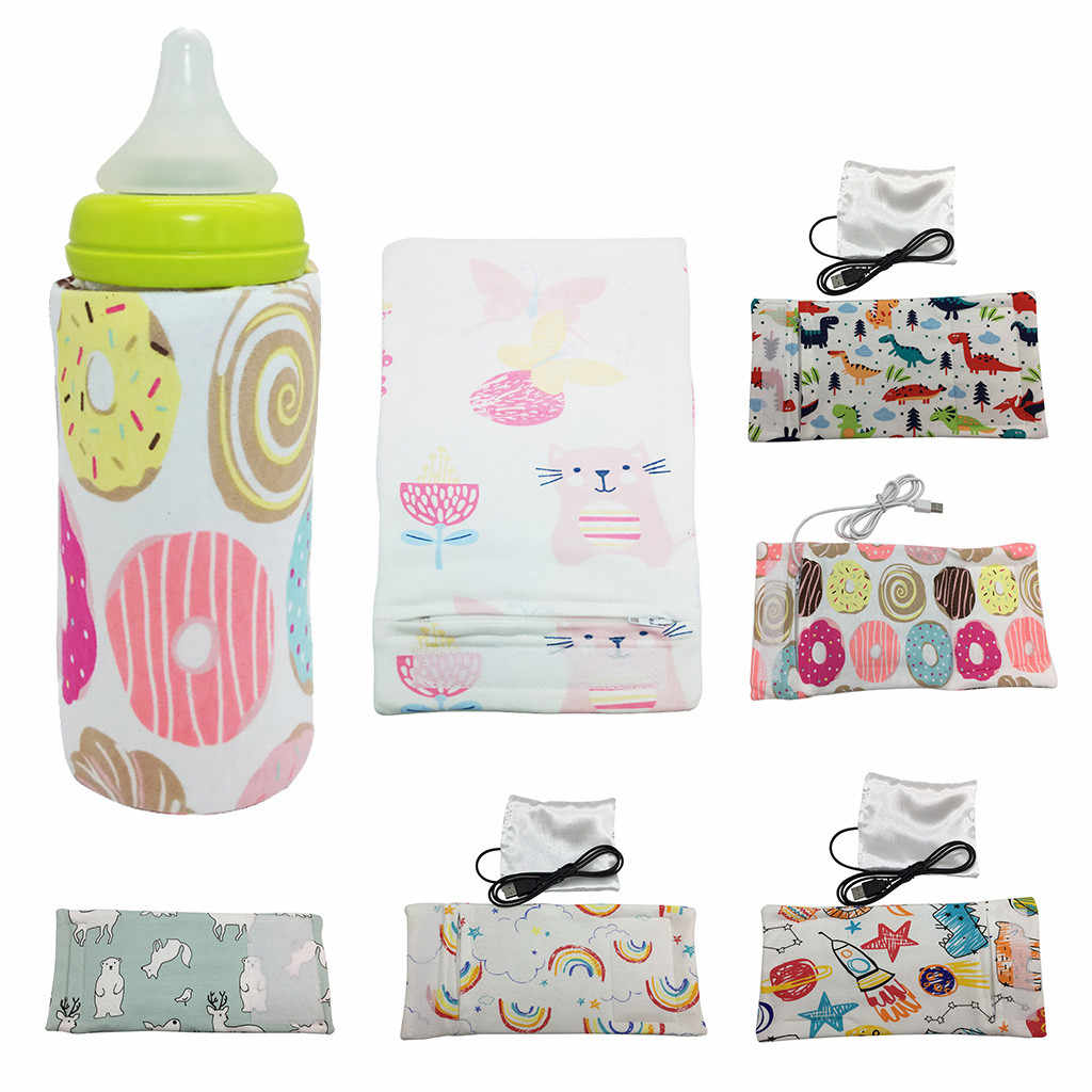 Портативный подогреватель бутылки USB Питание Молоко нагреватель путешествия открытый изоляционный чехол термостат сумка для кормления новорожденных