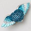 Anillo del ala del ángel del corazón del estiramiento mujeres biker bling joyería de la antigüedad del oro y plateado plata al por mayor de dropship 5