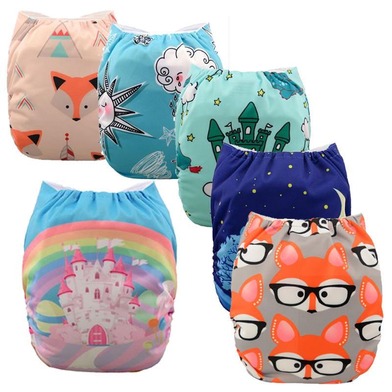 2016 New Patterns Washable Baby Cloth Diaper Cover Waterproof Cartoon Owl Baby Diapers Reusable Cloth Nappy Suit 0-2years 3-15kg