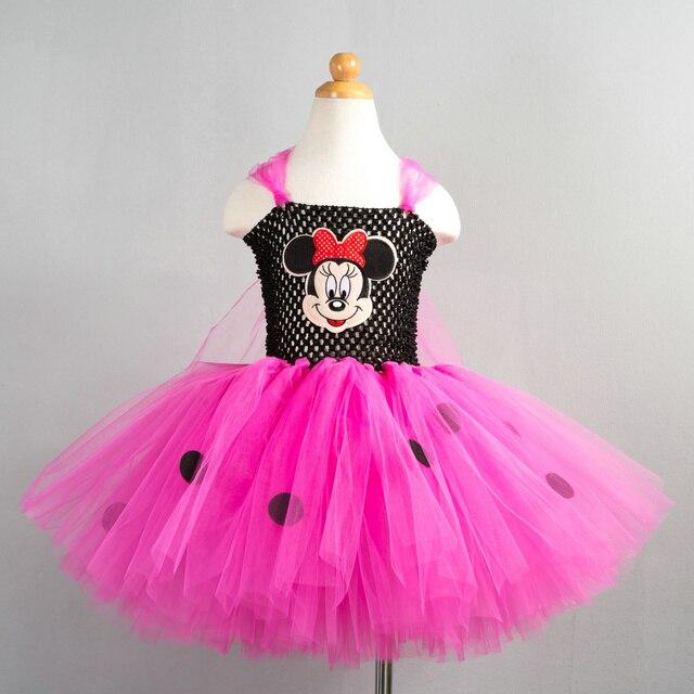 9c47f89699e65f € 17.56 |2017 Nouveau Minnie Mouse Tutu Robe pour Bébé 2 T 3 T Enfants  filles 4 12Y Smash Gâteau Rose Chaud Tulle Infantile Partie D'anniversaire  ...