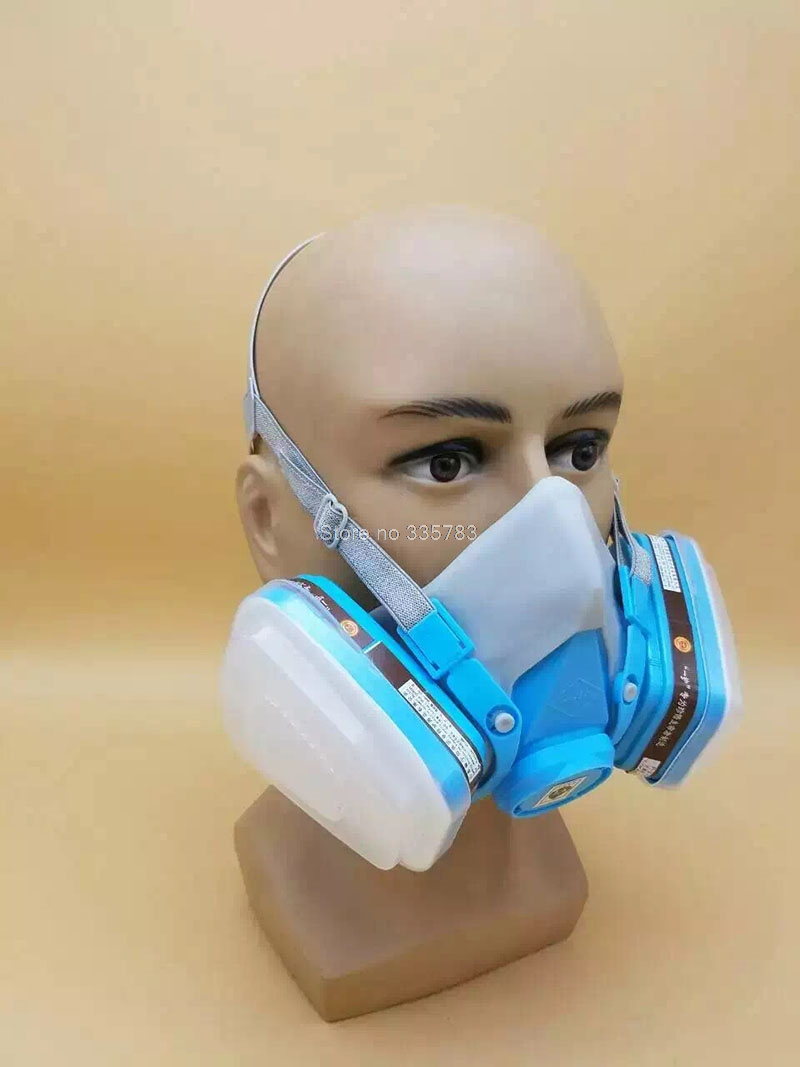 YIHU respirator gas mask Silica gel green protective mask pesticides paint industrial safety respirator face mask in Masks from Security Protection