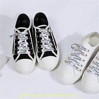 Модные женские туфли парусиновые женские туфли все белые и черные Повседневное кроссовки на шнуровке свежий Стиль Туфли без каблуков Дизай