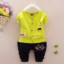 Cotton Baby Boy Clothing Set Long Sleeve