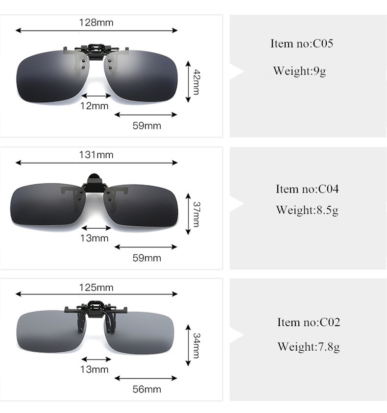 VWKTUUN Polarized Sunglasses Women Men Square Glasses Oversize Clip on Sunglasses Night Vision Lens Driving Sun glasses for Male in Men 39 s Sunglasses from Apparel Accessories