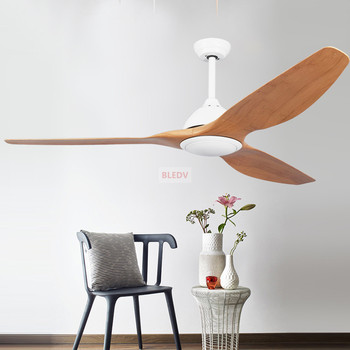 64 inch 52 inch led   Modern Industrial Ceiling Fan Light 110V/220V American retro remote ceiling fan Ventilador De Techo