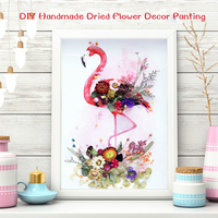 Animal Paniting By Numbers Flamingo Cat Zebra Deer DIY Painting Dried Flowers Oil Canvas For Home Decor Room Wall Art
