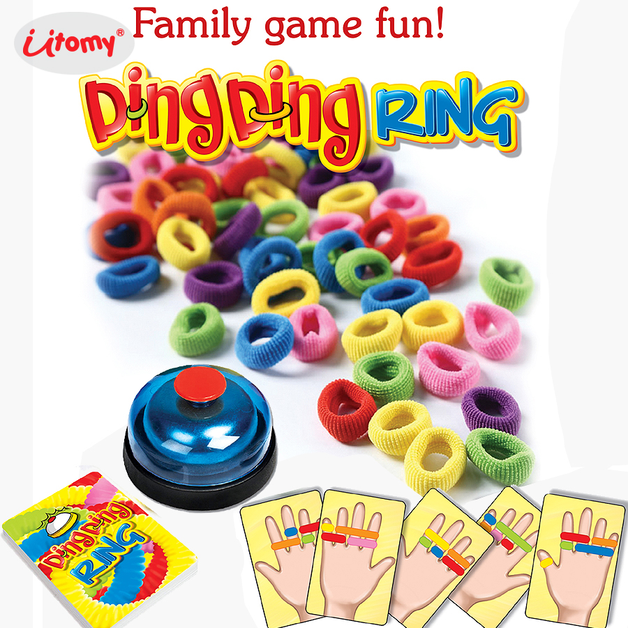 Funny Ding Ding Ring Family Party Fun Game,Great Party Practical Gadgets Vision Reagency Challenge Toys Playset For 2-6 Players