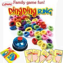 Забавные Ding кольцо Семья вечерние Веселая игра, отличные вечерние практические гаджеты видения reagency вызов игрушки playset для 2-6 игроков