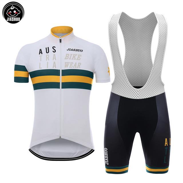 54f221854 NEW 2017 AUSTRALIA Classical Bicycle Team Bike Cycling Sets   Wear Jersey   Bib  Shorts Breathable Gel Pad CHOOSES JIASHUO