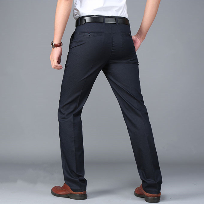 Suit Pants Trousers Business Formal Straight Cotton Casual Western-Style Brand-Clothing