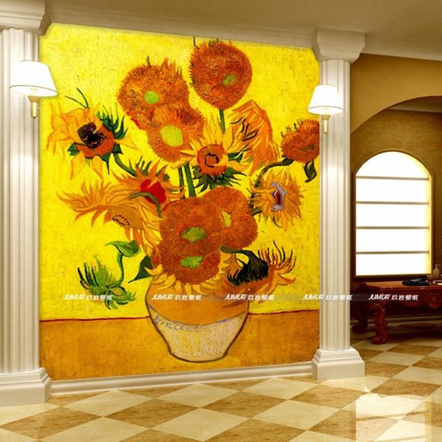 Sunflower 3D Wallpaper Van gogh Photo Wallpaper World famous ...