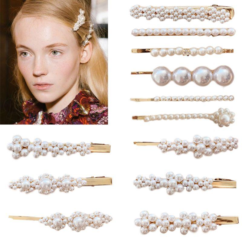 Hair Clip Trend 2019: 2019 Korean Style Imitation Pearl Flower Hair Pin Vintage