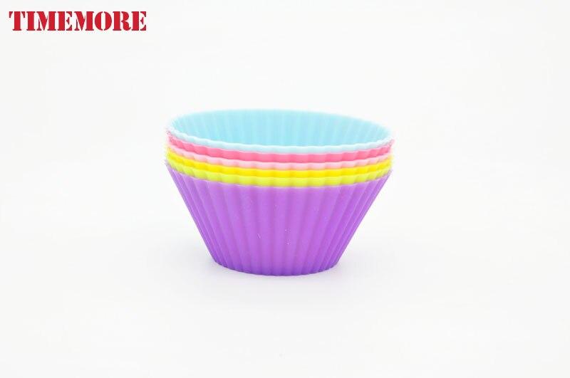 New Arrical 6 ks / lot Silikonový dort Formy na potraviny Graf - Kuchyně, jídelna a bar