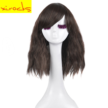 Young Women Wig Black Mixed Brown Kinky Curly Wigs For Women Synthetic Wigs Hair Hairstyle Resistant Heat Fiber 3076
