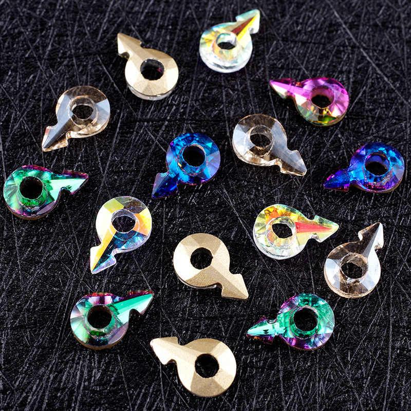 新しいネイルラインストーン愛矢印ダイヤモンド 3D 宝石性別記号マニキュアネイル装飾小さなジュエリー