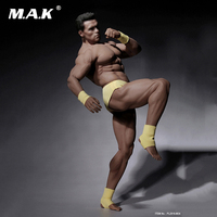 1/6 Scale Male Super Flexible Strong Muscular Seamless Figure Body With Stainless Steel in Suntan Color Figure Body Model