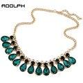 Отдых Украшения 2014 Новая Мода ювелирные изделия Gem заявление золотые Ожерелья и Кулоны оптовая choker ожерелья для женщин
