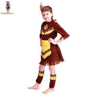 Halloween The Indians Cosplay Costume For Children Boys Girls Native American Brave Costumes Gypsy Dream Catcher