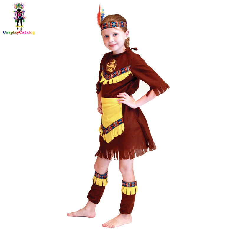 Halloween The Indians Cosplay Costume For Children,Boys/Girls Native American Brave Costumes,Gypsy Dream Catcher Kids Uniforms