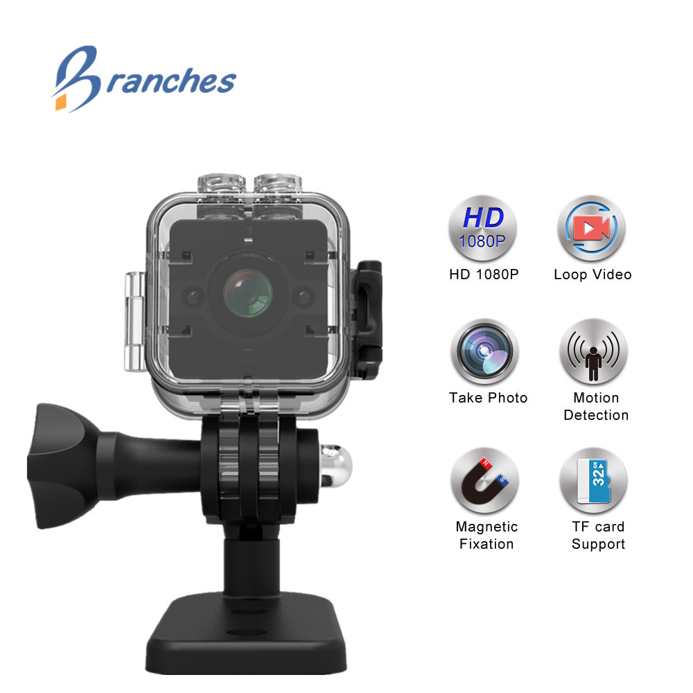FGHGF Original SQ12 HD 1080P Wide Angle Waterproof MINI Camcorder DVR Mini video camera Sport camera PK SQ9 SQ11 SQ 11 SQ 12
