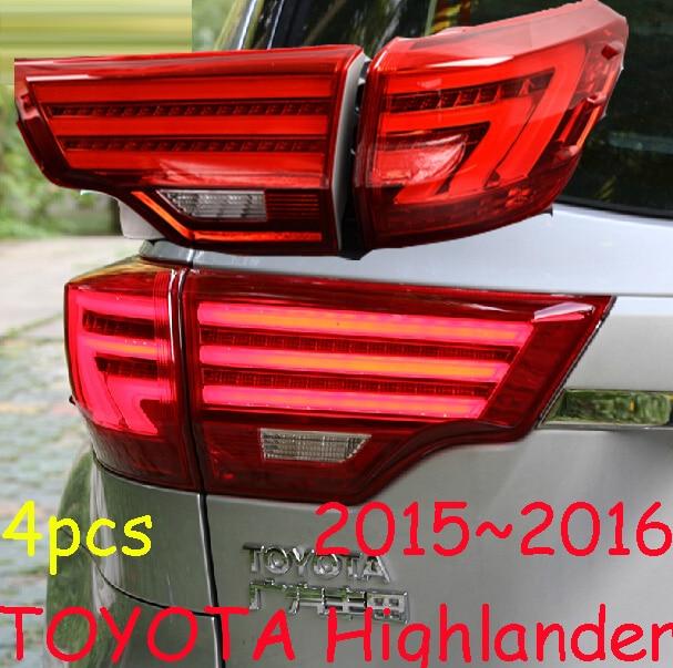 Highlander taillight,2015~2017;Free ship!LED,4pcs/set,highlander rear light;optional:red/Black color,highlander fog light is250 taillight 2006 2012 free ship 4pcs set red black color is250 rear light is250 fog light is250 is300 tail light is300