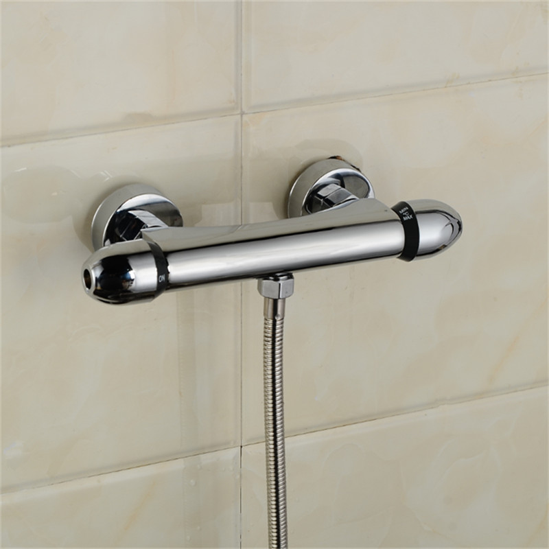 Shower Faucets Shower Copper Mixing Valve Thermostat: Constant Temperature Faucet Mix Water Valve Full Copper
