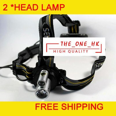G013 double pipe head lamp/double head lamp/highlight head lamp/outdoor 100G free shipping