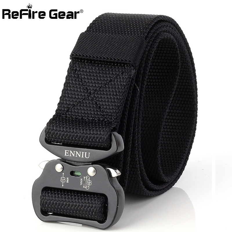 Apparel Accessories Painstaking Refire Gear Us Army Combat Tactical Belt Men Swat Military Equipment Nylon Belt Sturdy Knock Off Lock Buckle Waist Belt 3.8cm Clients First