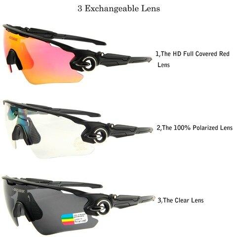 Men Women 3 Lens Polarized Bike Sunglasses Mountain Road Bicycle Glasses Sports Camping Hiking Fishing Goggles Cycling Eyewear Islamabad