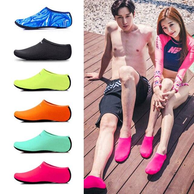 Men Women Aqua Skin Shoes Beach Water Socks Yoga Exercise Pool Swim Slip On Surfing Shoes XR-Hot