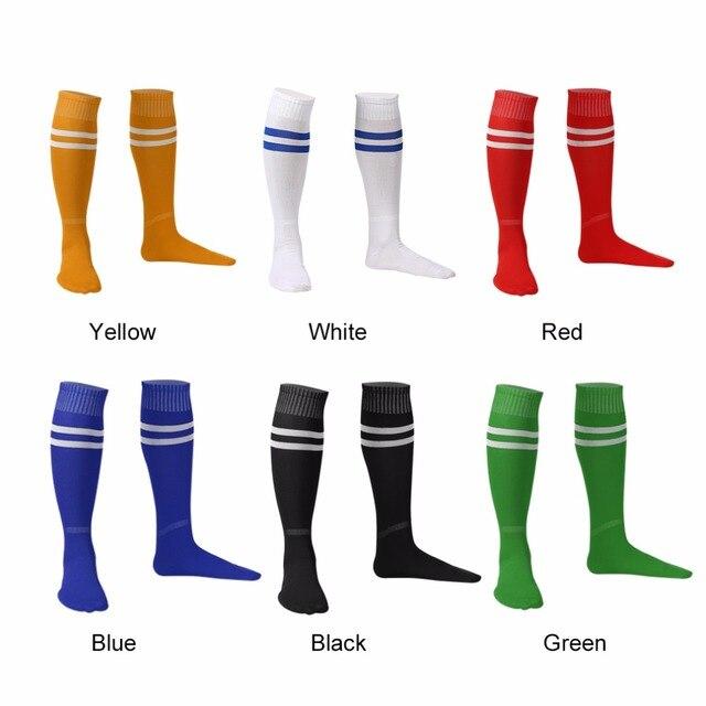 1 par de calcetines deportivos medias hasta la rodilla fútbol sobre rodilla tobillo hombres mujeres calcetines gran venta Dropshipping
