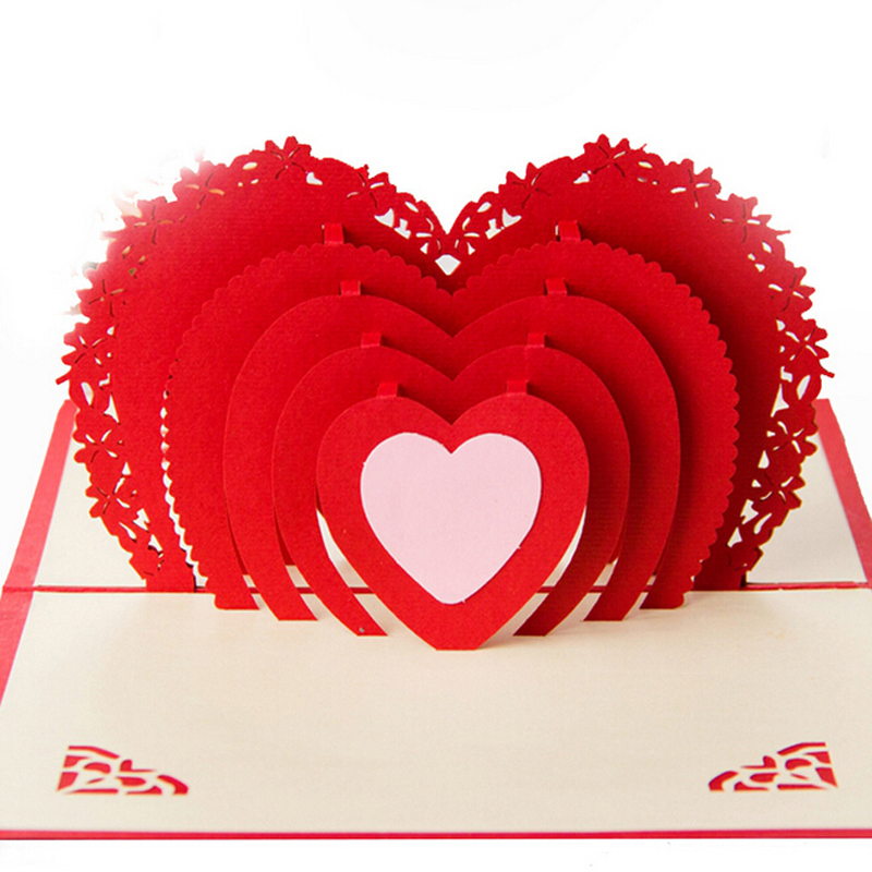 3д открытка сердце видео