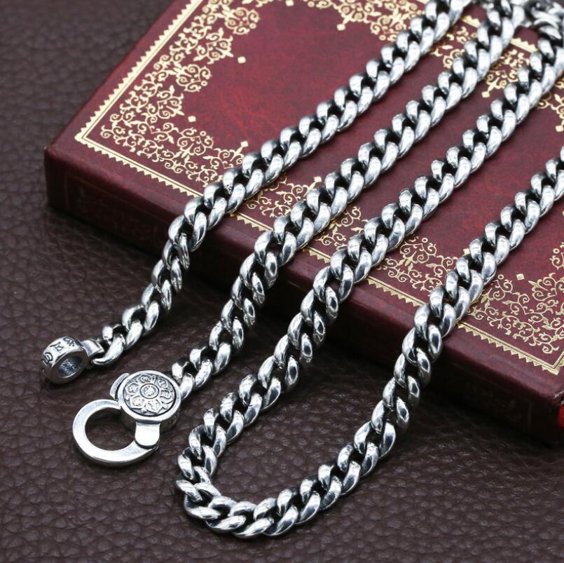 925 en argent Sterling mode étudiant collier six mots Mantra avec bijoux de paix - 4