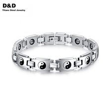 Fashion health bracelets for men jewelry wholesale stainless steel  watch bracelet jewelry with Magnetic  BR-078