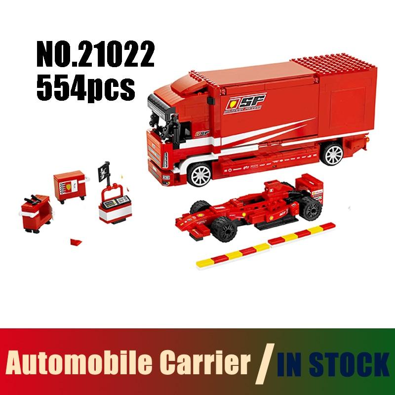 Compatible Lego Technic Speed Models Building Toy F1 Automobile Carrier 554pcs 21022 Building Blocks Toys & Hobbies lego lego technic 42031 ремонтный автокран