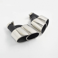 1 pair attainless steel modified 자동차 차량 배기 테일 머플러 팁 tailpipe for audi a4 a5 a6 a7 wald 스타일  s 디퓨저 포함