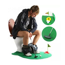 Toy Toilet Fun Golf Toilet Mini Set Leisure and Entertainment Sports Toy Boys and Girls Toys