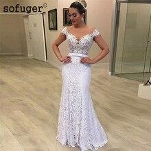 White Sweetheart lace Off the Shoulder Wedding Dress Robe De Mariee Sofuge Boho Dubai Arabic Abiti Da Sposa