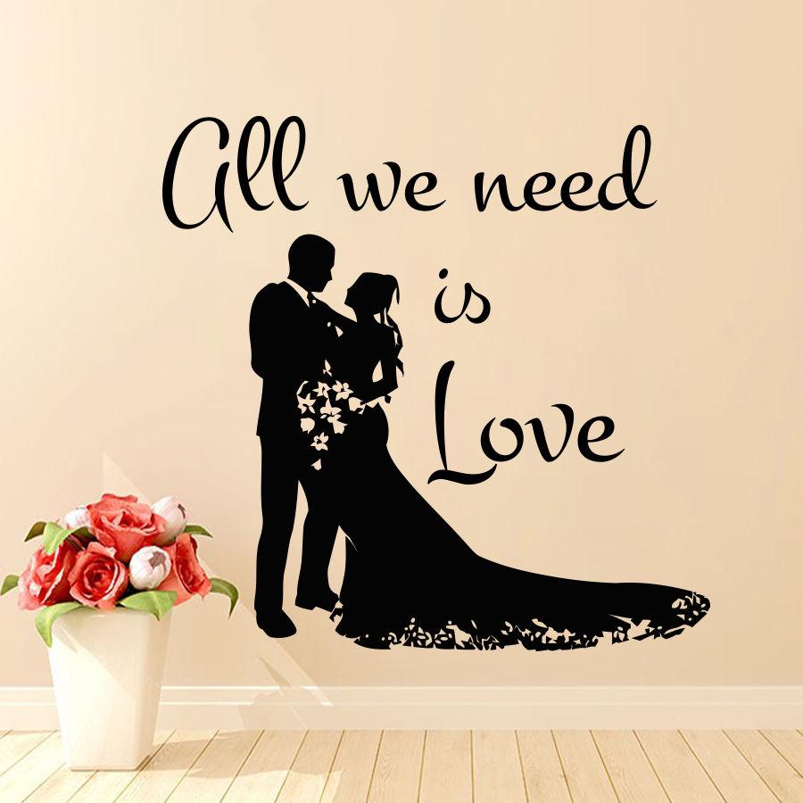 Bride and Groom Wedding vinyl wedding stickers bridal stickers