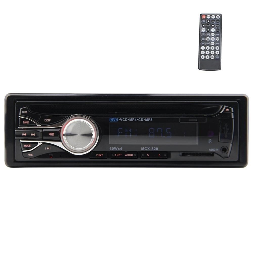 Single Din Car Stereo In-Dash Car DVD Player LCD Screen Support Subwoofer /FM/CD/MP3/USB / SD /Aux input with Remote Control 1 8 lcd car mp3 mp4 player fm transmitter with remote controller red sd mmc mini usb