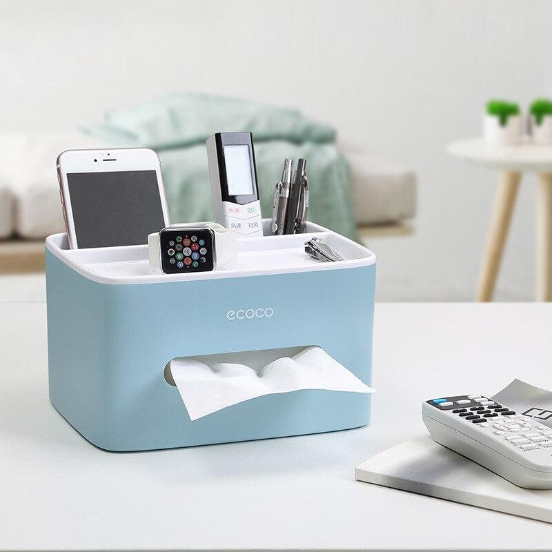 Tissue Box Cover Plastic Napkin Holder Double Storage Bathroom Living Room Paper Holder Office Waterproof Tissue Dispenser 2019 in Tissue Boxes from Home Garden