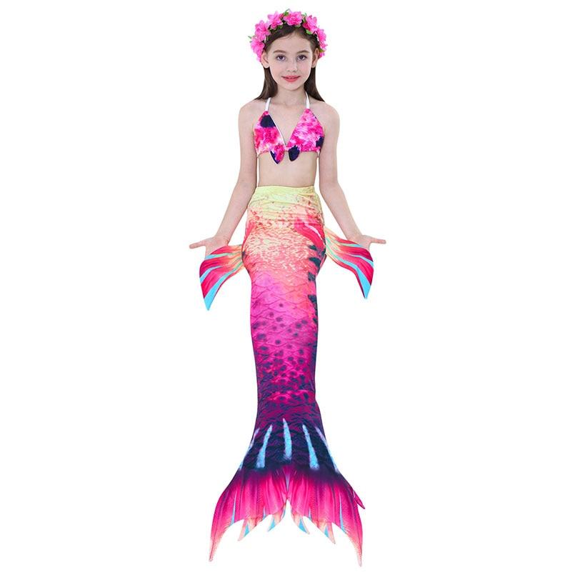 girls mermaid tail swimwear 2-6