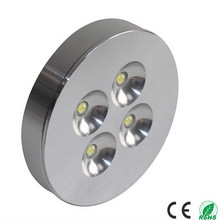 Free shipping High Quality 12W LED Puck light 4x3W Dimmable puck lamp led cabinet 120 Degree AC85-265V