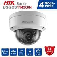 Hik Original Neue Video Überwachung Kamera DS-2CD1143G0-I 4MP IR Netzwerk Kugel IP Kamera POE H.265 + Ersetzen DS-2CD1141-I