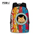 Nueva Llegada 3D Mascota Gato Bolsa de La Escuela Bolsa de Viaje de Los Hombres Animales Casual Niños Schoolbag Niños Del Bolso de escuela Para Los Adolescentes bolsas