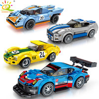 HUIQIBAO TOYS 715PCS Racing Car Racer figures Building Blocks for Children kits Compatible legoingly City Speed Champions Bricks