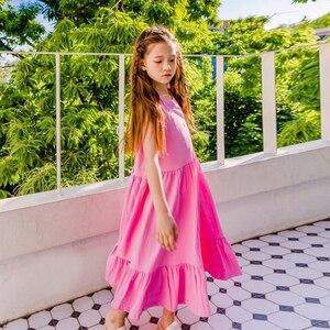 Image 2 - العلامة التجارية الفتيات فستان أطفال فستان الشمس 2020 طفل فستان صيفي القطن ماكسي طويل الأطفال الترفيه فستان طفل عادي مطاطا ، #5267