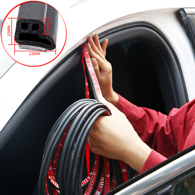 Car 2/4/16/25 Meters Car Door Sealing Strips Sticker Weatherstrip Rubber Seals Sound Insulation Sealing Automobiles Accessories