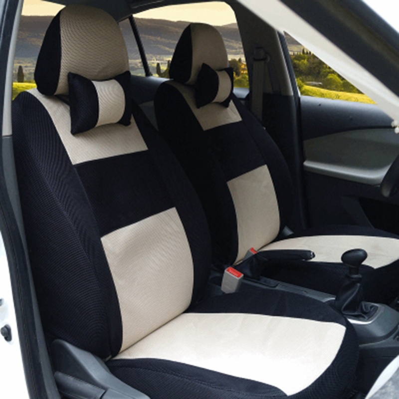 (front & back) Seat covers Universal car seat cover For Ford Mondeo Focus 2 Focus 3 Fiesta car-styling sandwich Free Shipping 1 pcs diy car styling new pu leather free punch with cup holder central armrest cover case for ford 2013 fiesta part accessories